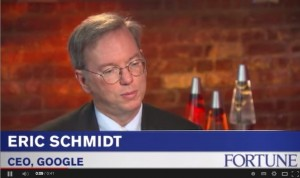 "Eric Schmidt ""You need a coach"""
